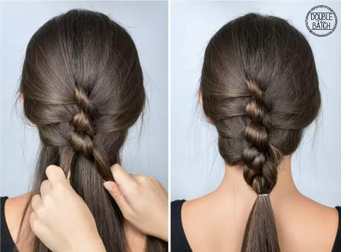 Simple Twisted Hairstyle Tutorial Easy For Long Hair Of Knots