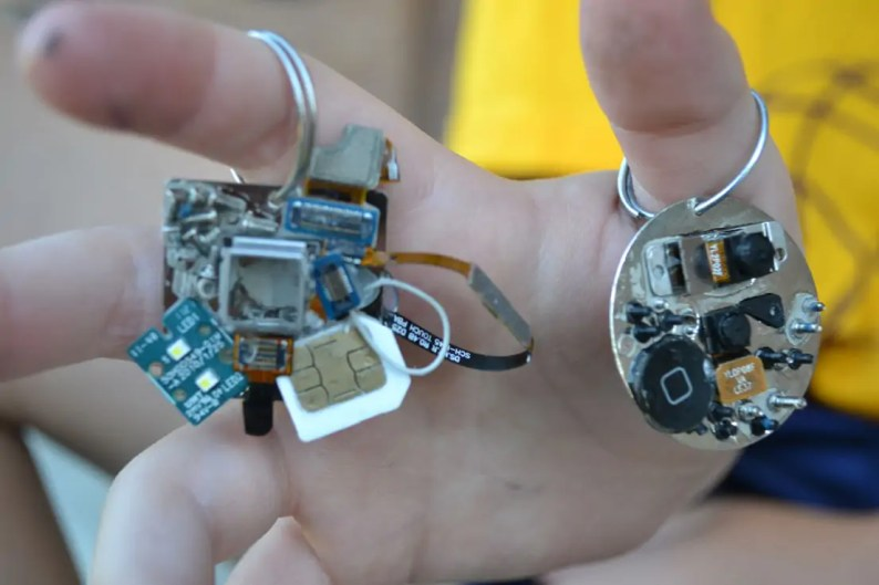 electronic parts, keychains