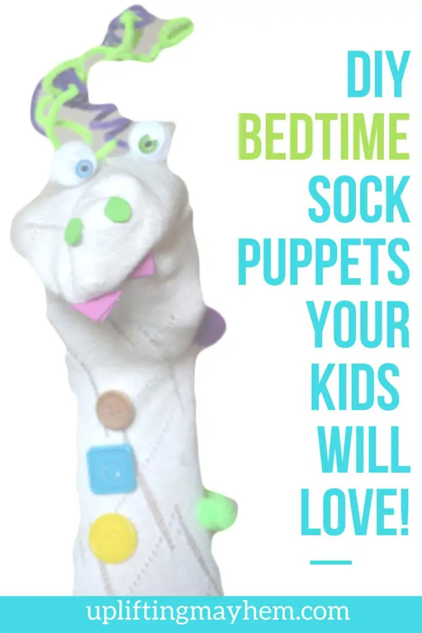 DIY BEDTIME SOCK PUPPETS YOUR KIDS WILL LOVE