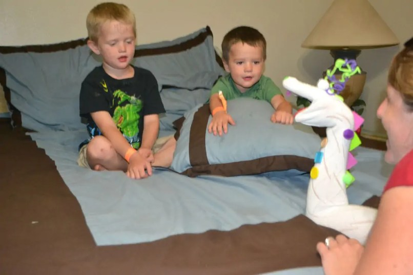 hand puppet, kids, bedtime