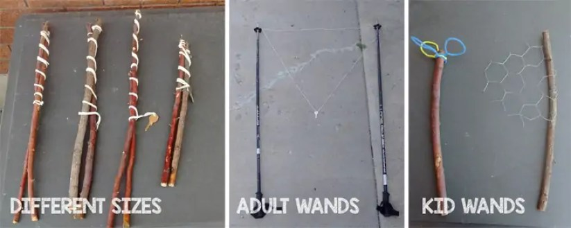 sticks, string, ski poles