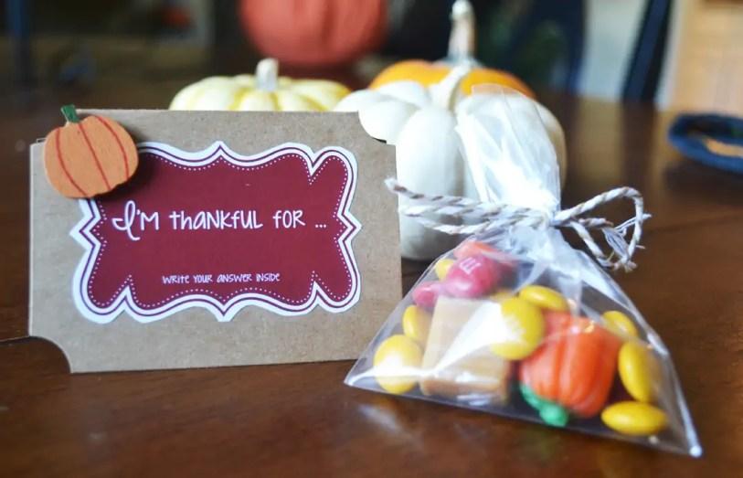 Card, candy, bag, pumpkins