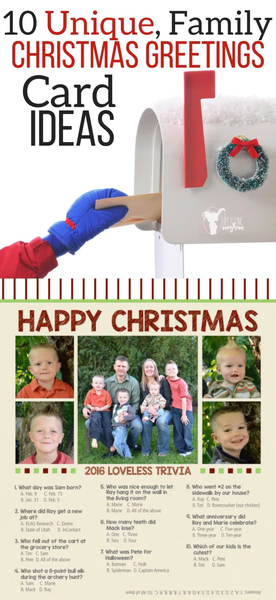 10 unique family christmas greetings card ideas uplifting mayhem 10 unique christmas greeting card ideas m4hsunfo