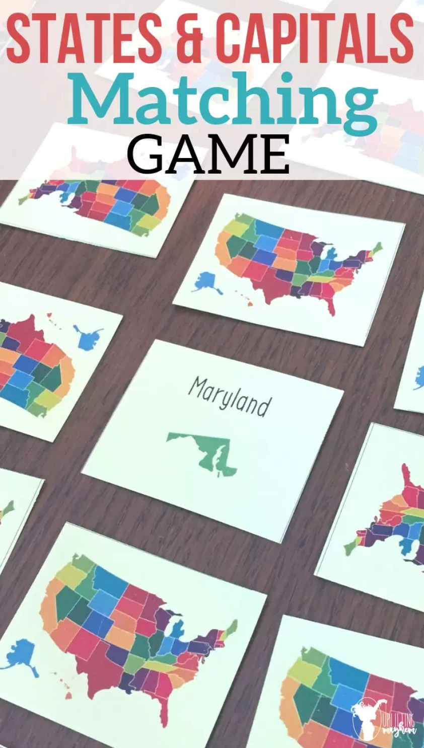 Great family states and capitals matching game that everyone will love! Learn and play while learning!