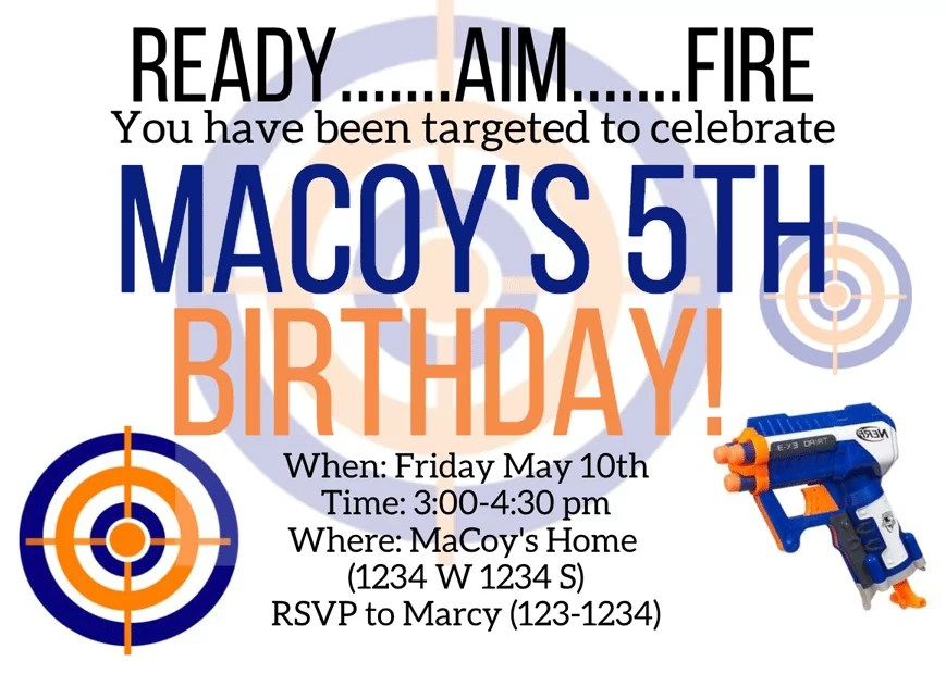 the ultimate nerf gun birthday party