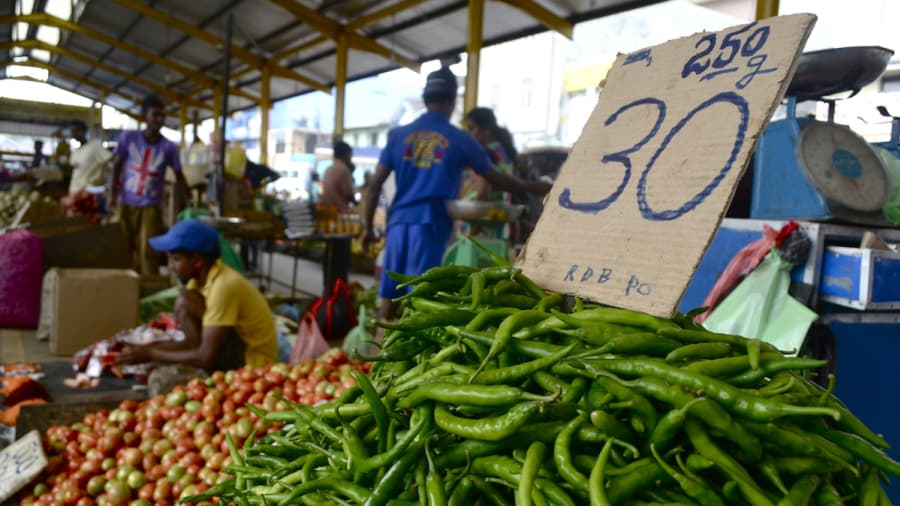 Vegetables in pettah market