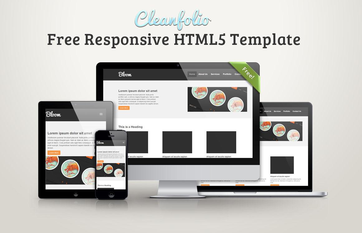 Cleanfolio: Download grátis de Template Responsivo em HTML5 ...