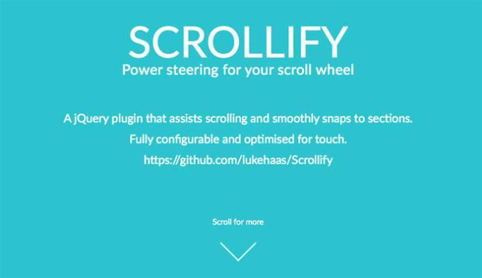 9 –Scrollify
