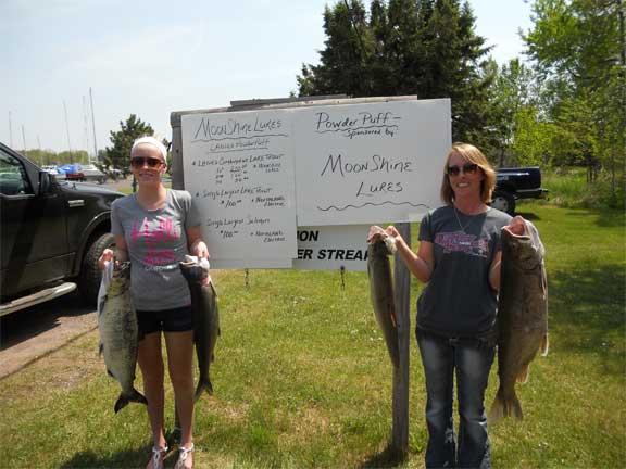 Lake Trout Classic Powderpuff Winners Cayla Karttunen and Pam Karttunen