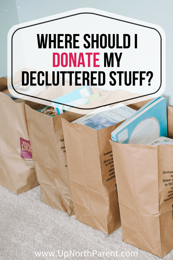 Congratulations, you've decluttered your house! Now what? Here are places to donate your stuff to, and what to consider when deciding where to bring it. #simplify #declutter #decluttering #organization #donate #charity