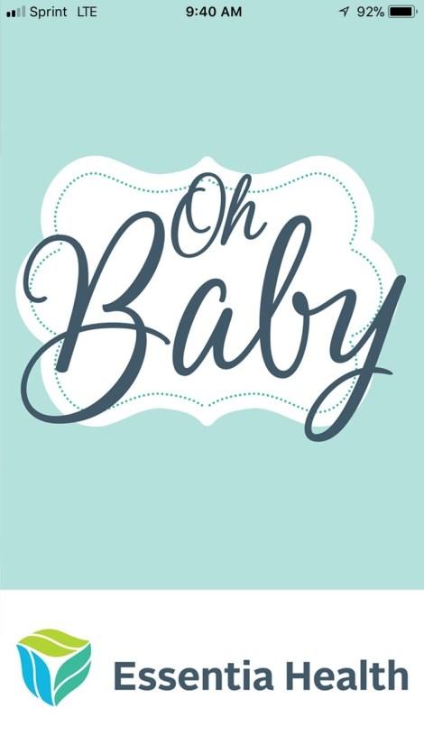 Essentia Health's new Oh Baby App