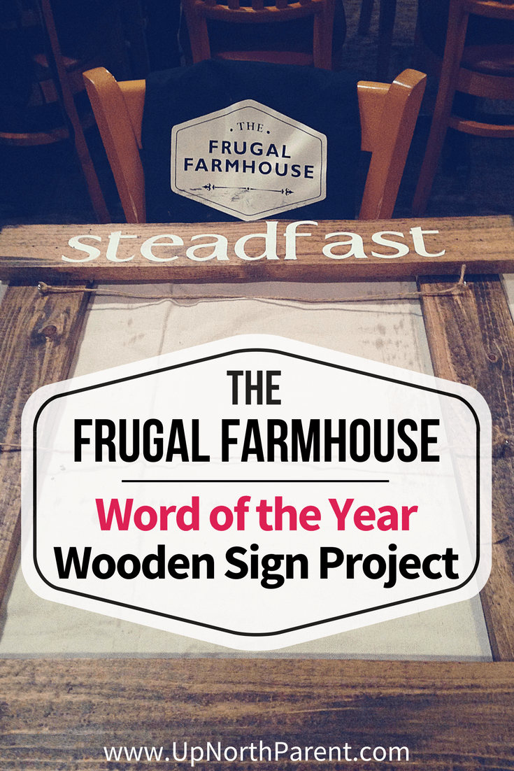 Word of the Year Wooden Sign Project from The Frugal Farmhouse was designed to be a beautiful decor piece that holds the goals and visions that supports everyone's One Word for 2018. #woodworking #woodensign #oneword #wordoftheyear