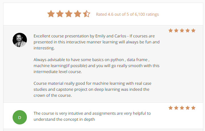 Machine Learning Foundations: A Case Study Approach Ratings & reviews