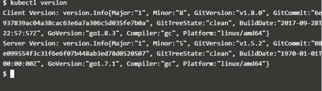 kubectl version command
