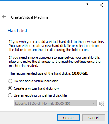 Choose Hard Disk