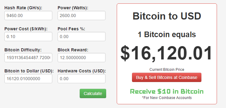 bitcoin profit calculator gpu