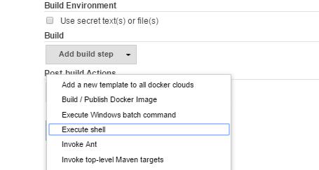 Add Build Step