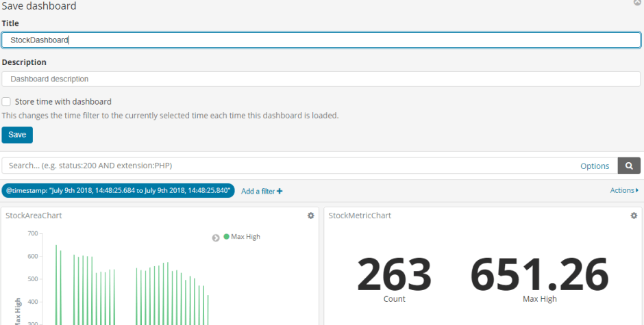 Create Kibana Dashboard