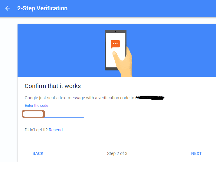 Confirm Verification codes