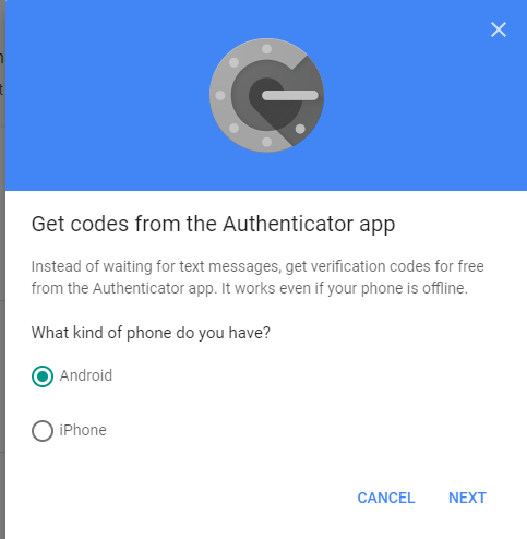 Setup Authenticator app