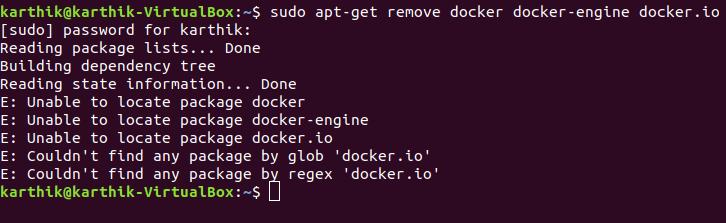 Uninstall Docker