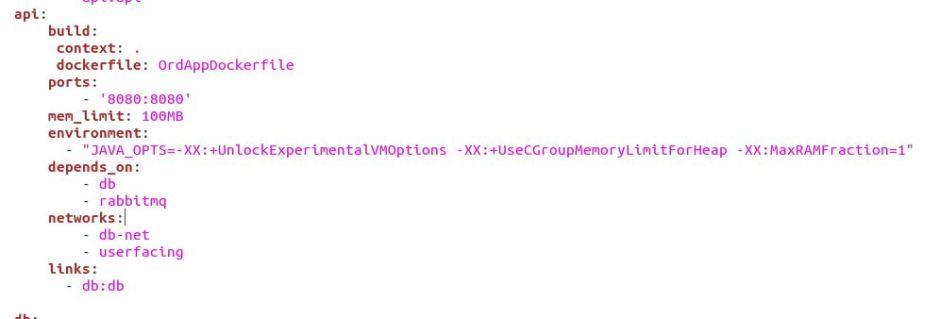 Java Options in Docker Compose File
