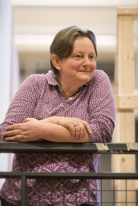 13. Stephanie Jacob in rehearsal for Absolute Hell (c) Johan Persson