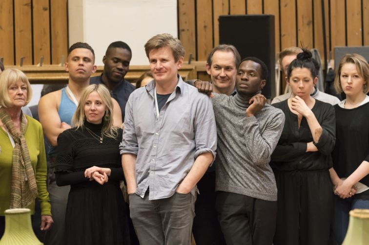 16. Some of the company in rehearsal for Absolute Hell (c) Johan Persson