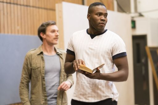 19. John Sackville and Martins Imhangbe in rehearsal for Absolute Hell (c) Johan Persson