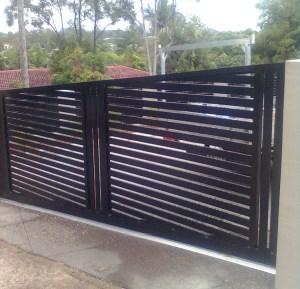 Aluminium Slat Sliding Gates