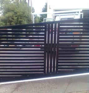 Aluminium Slat Sliding gate
