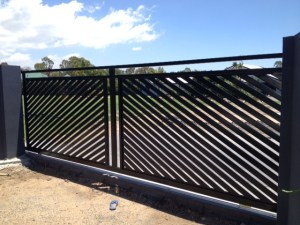 Aluminium Slat gate redlands