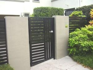 Aluminium Slatted Gate Brisbane
