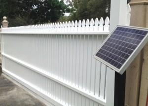 Aluminium Sliding Gate Solar Power