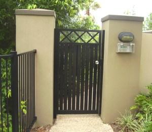 Aluminium gate brisbane criss cross