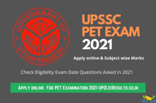 upsssc pet exam 2021