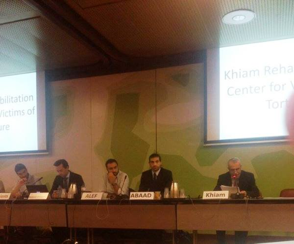 مركز الخيام يقدم تقريرا عن حالة حقوق الانسان في لبنان في مؤتمرالاستعراض الدوري التحضيري في جنيف