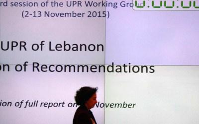 مساعدة لبنان في تقديم تقريره للدورة الثالثة للاستعراض الدوري الشامل