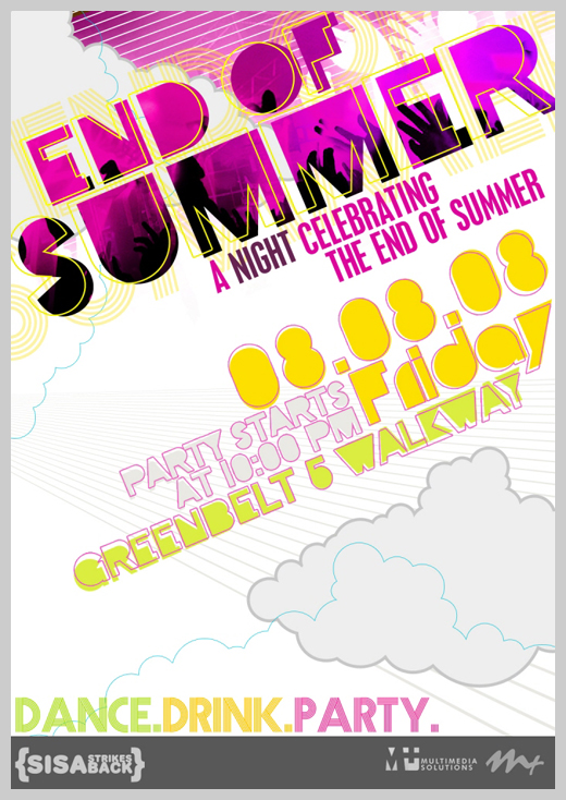 Sample Party Invitations - End of Summer Party Flyer