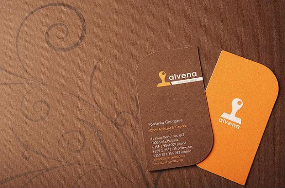 Custom Shaped Business Cards - Alvena