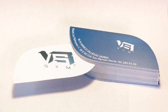 Custom Shaped Business Cards - VS Gym