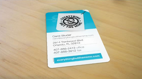 Custom Shaped Business Cards - Everything But the Mine