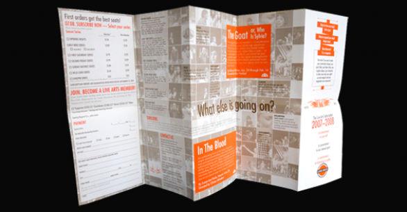 Event Brochure Design Examples - Live Arts