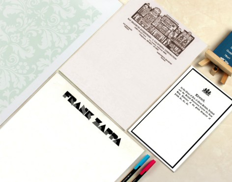 Personal Letterheads of Famous People