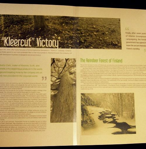 Greenpeace Newsletter Inside