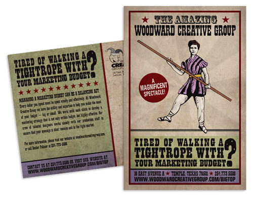 business postcard ideas 16 - woodward creative group self promotion campaign
