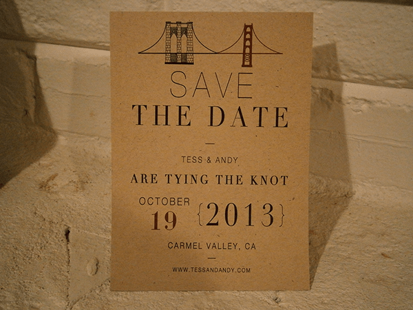 Uncoated save the date wedding postcard