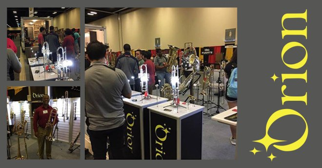 People Browsing the Orion Musical Instruments Display
