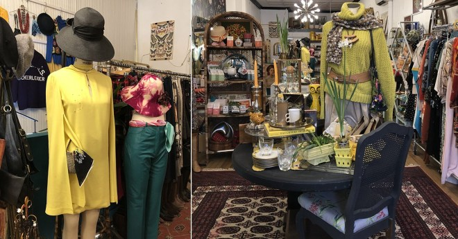 Second hand fashion clothes vintage store