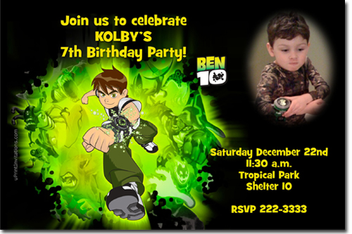 Birthday Invitations 4x6